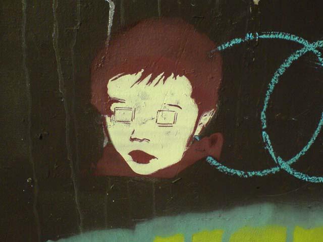 Square-eyed Kid (Stencil)