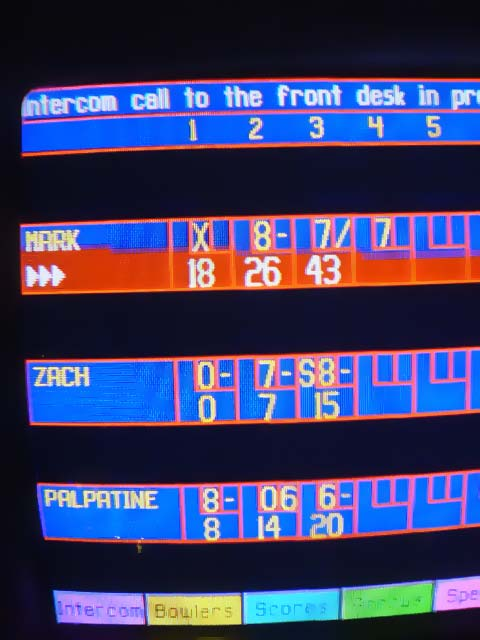 Embracing the dark side of the force isn't enough to save my game.  I'm awful at 10 pin.
