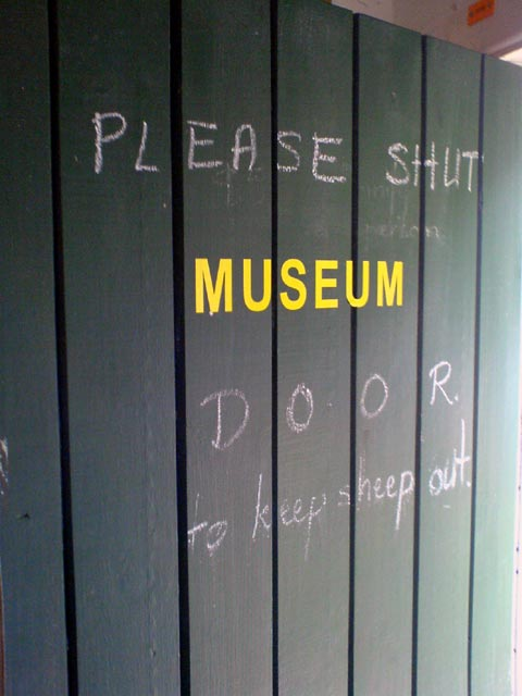 No sheep in the museum, k thx.