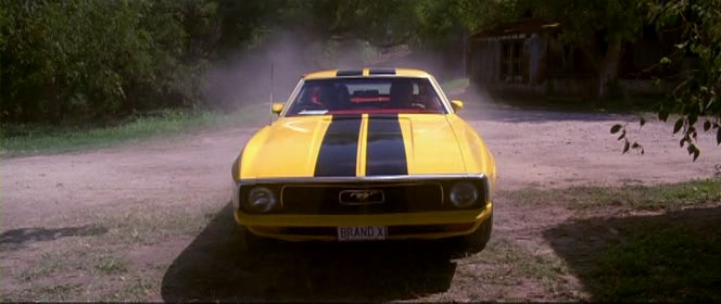 Bruce Lee coloured muscle car from Death Proof (2007).  That I want.  Like, now.