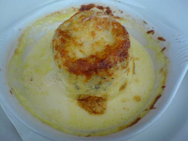 Twice Baked Goat Cheese Souffle, $18