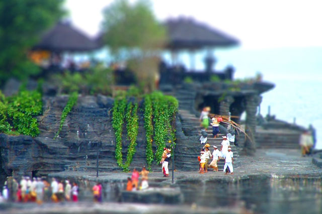 Tanah Lot tilt-shift