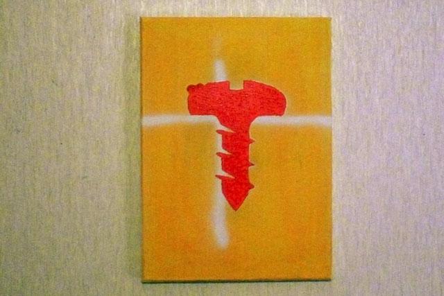 Screw by Morgan Nichol, acrylic & enamel, 2009.