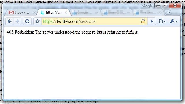 Twitter fail...